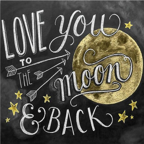 Image of LOVE YOU TO THE MOON Diamond Painting Kit - DAZZLE CRAFTER