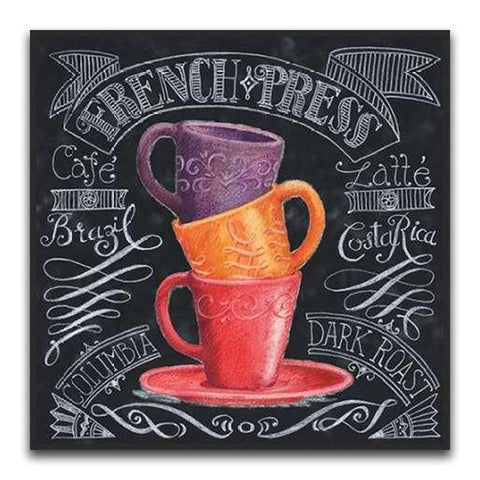 Image of THREE TEACUPS CHALKBOARD Diamond Painting Kit - DAZZLE CRAFTER