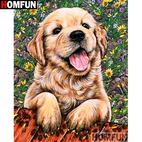 Image of Smiling Puppy Diamond Painting Kit - DAZZLE CRAFTER