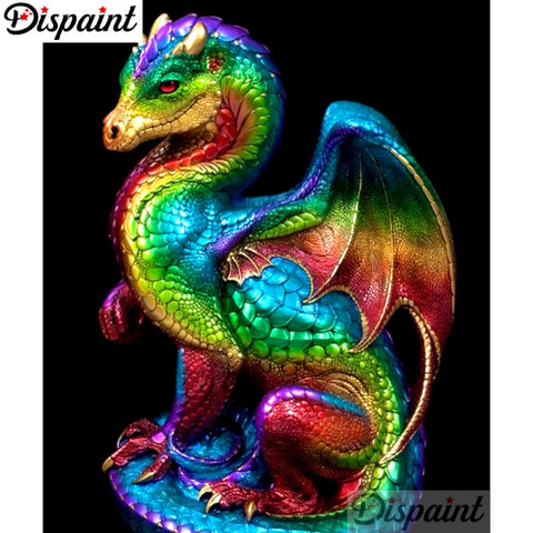 MULTICOLOR DRAGON Diamond Painting Kit - DAZZLE CRAFTER