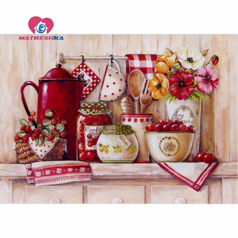 Image of MY KITCHEN SHELF Diamond Painting Kit - DAZZLE CRAFTER