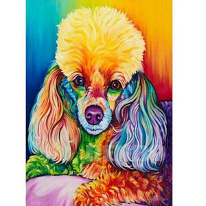 Poodle Rainbow Diamond Painting Kit - DAZZLE CRAFTER