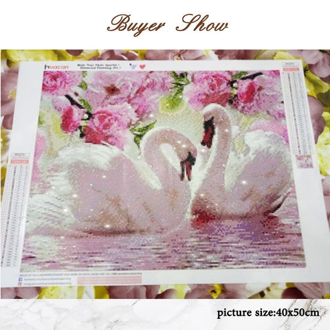 Image of SWAN LOVE Diamond Painting Kit - DAZZLE CRAFTER