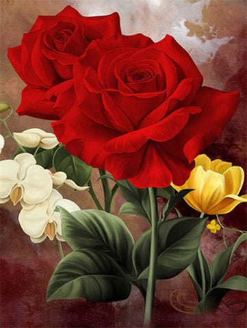 RED FLOWERS SERIES Diamond Painting Kit - DAZZLE CRAFTER