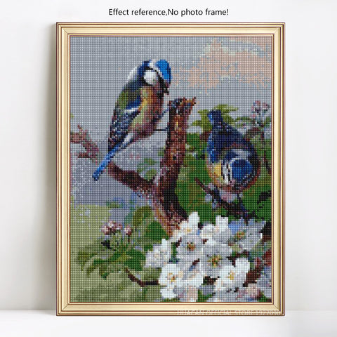 Image of BLUE BIRDS Diamond Painting Kit - DAZZLE CRAFTER