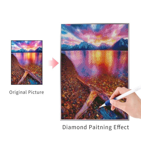 Image of PURPLE SUNSET Diamond Painting Kit - DAZZLE CRAFTER