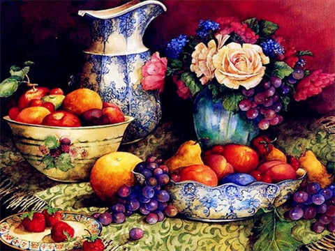 Image of FRUITS & WINE SERIES Diamond Painting Kit - DAZZLE CRAFTER