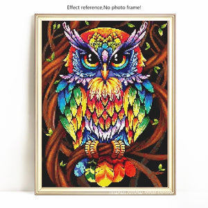 MULTICOLOR OWL Diamond Painting Kit - DAZZLE CRAFTER