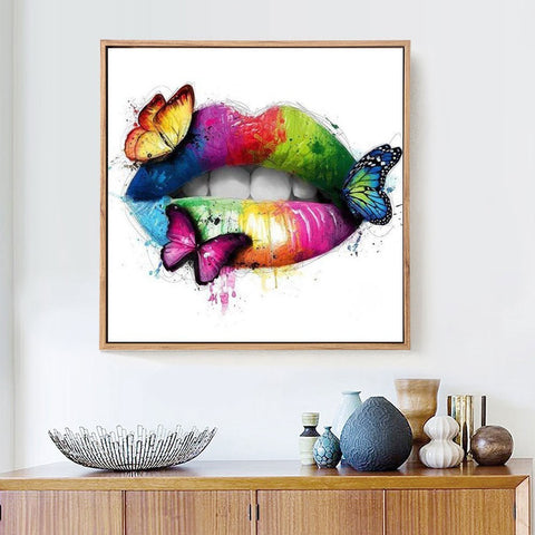 BUTTERFLIES ON LIPS Diamond Painting Kit - DAZZLE CRAFTER