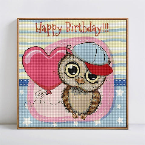 Image of HAPPY BIRTHDAY LOVE Diamond Painting Kit - DAZZLE CRAFTER