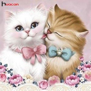 KITTY LOVE Diamond painting Kit - DAZZLE CRAFTER