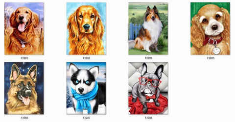 MY PET DOGS Diamond painting Kit - DAZZLE CRAFTER
