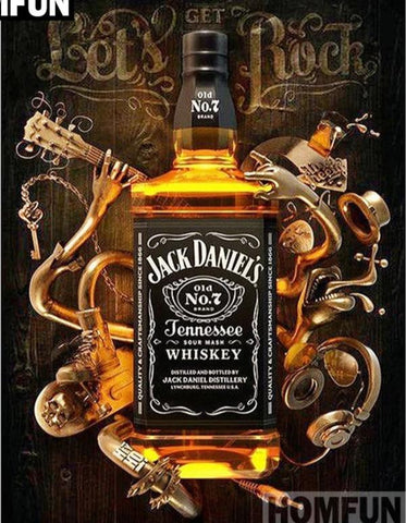 JACK DANIEL'S WHISKEY Diamond Painting Kit - DAZZLE CRAFTER
