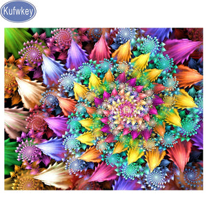MANDALA FLOWERS Diamond Painting Kit - DAZZLE CRAFTER