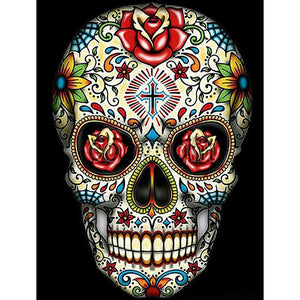 SKULL RED ROSE Diamond Painting Kit - DAZZLE CRAFTER