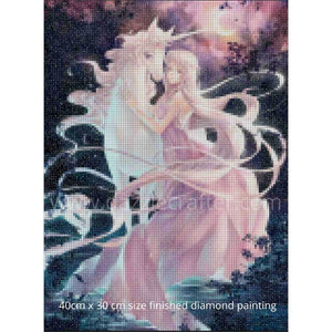 PRETTY GIRL WITH UNICORN Diamond Painting Kit - DAZZLE CRAFTER