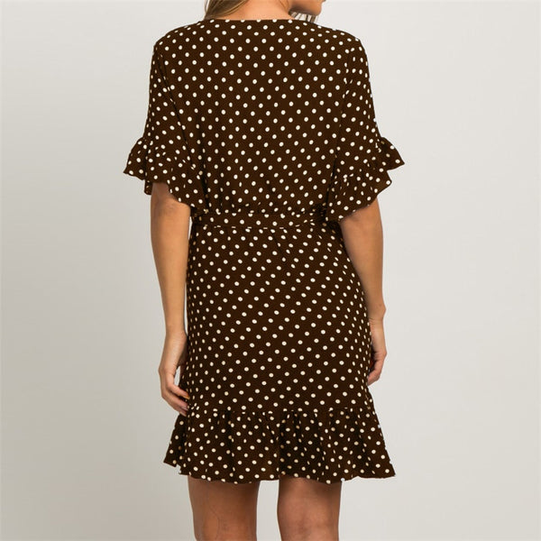 Summer Chiffon Polka Dot Dress 2019