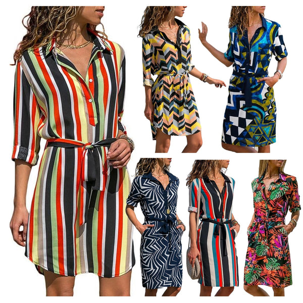 Women Chiffon Long Sleeve Shirt - Summer Dress 2019