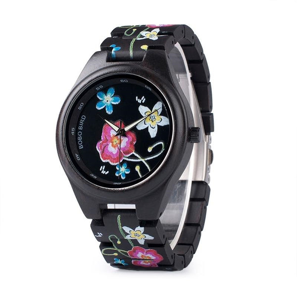 Wooden Fashion Quartz Wristwatches 43mm