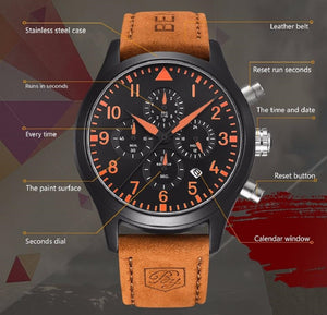 Chronograph Quartz Wristwatches 45mm