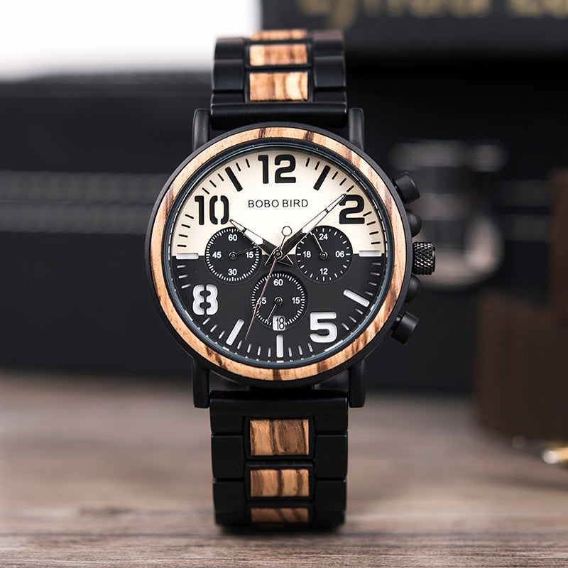Chronograph Wooden 44mm<br>#22094108