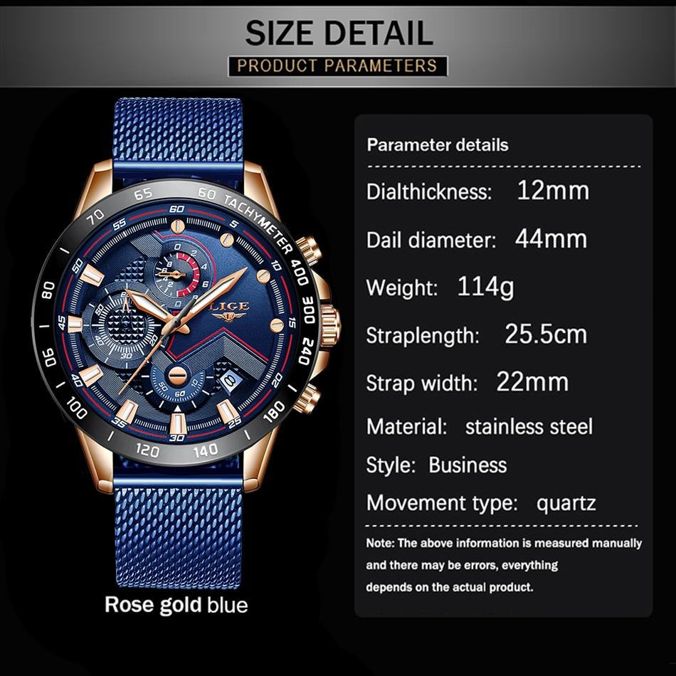 Chronograph Quartz Wristwatches 44mm