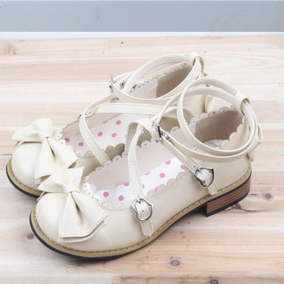 Chaussures Lolita Plates avec noeuds
