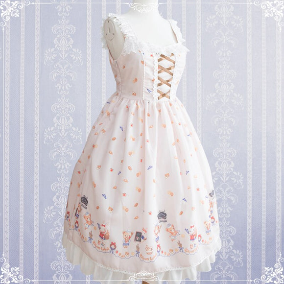 Robe Sweet Lolita Kawaii rose pale Lolita Harajuku