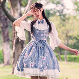 Robe Classic Lolita manches courtes avec noeuds