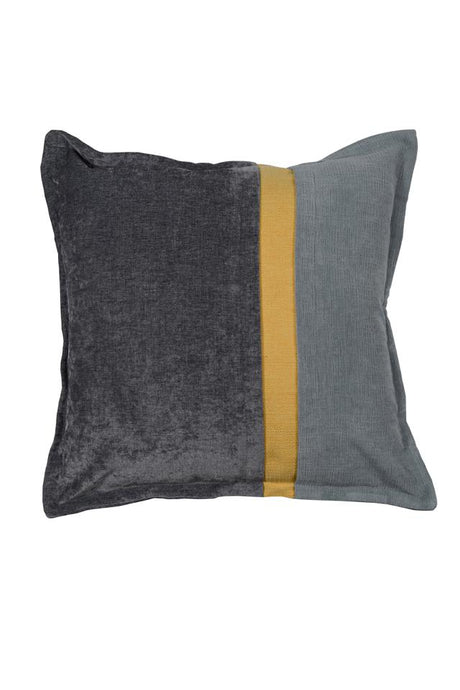 Two Tone Grey with Yellow stripe