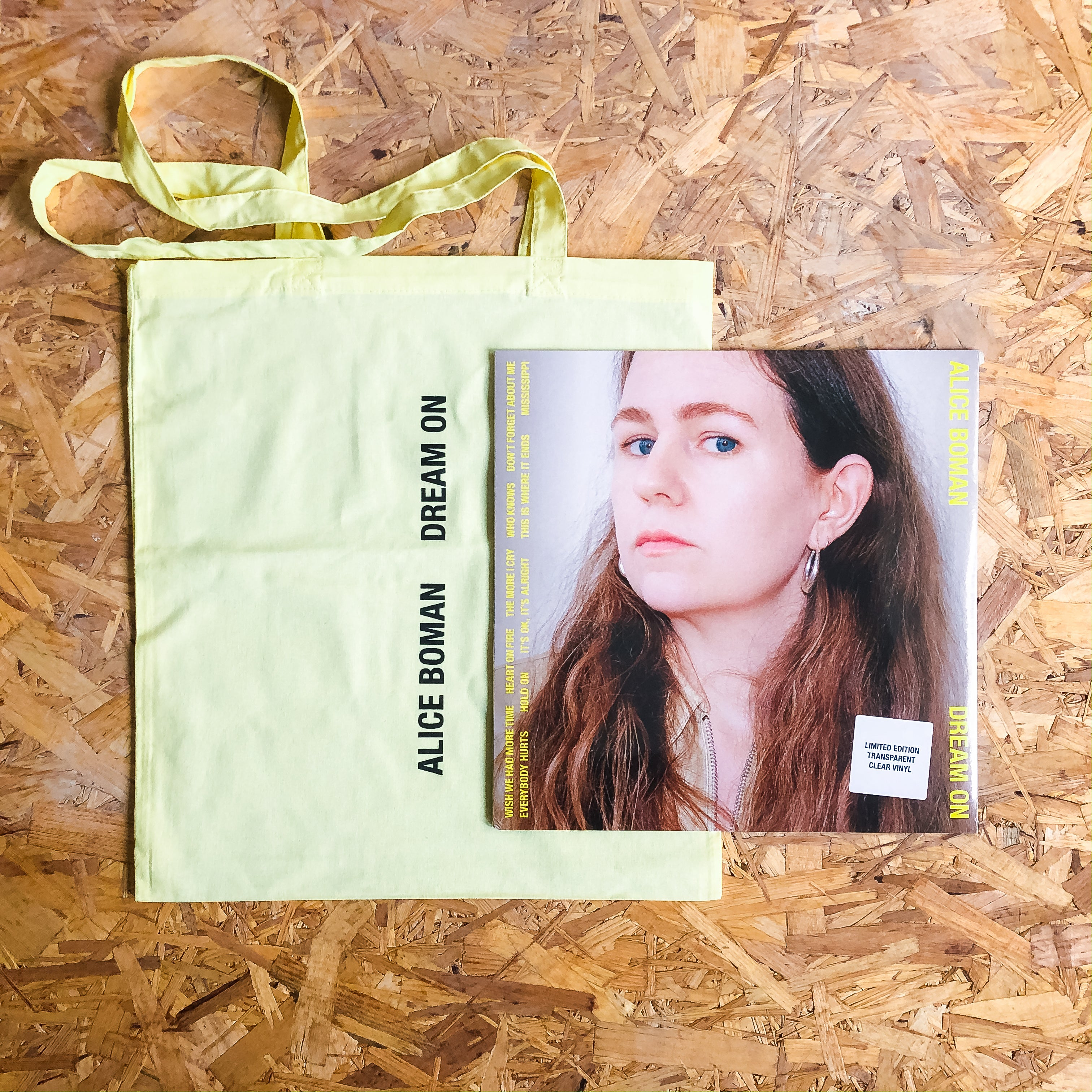 Alice Boman - Dream On (Clear vinyl + Tote Bag Bundle)