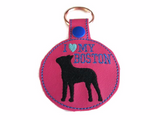 I Love My Boston Key Fob