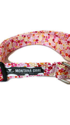 Floral Hearts Pet Collar