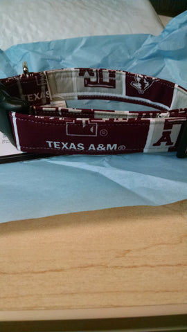 Texas A & M  Dog Collar