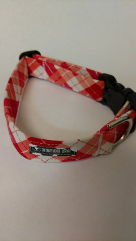 Pretty in Pink Plaid Pet Collar