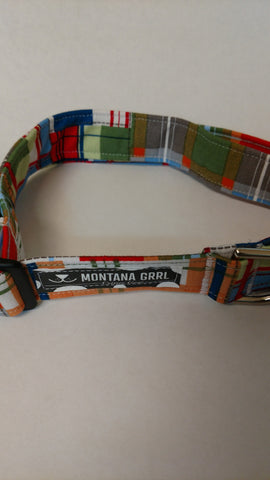 Madrias Plaid Pet Collar