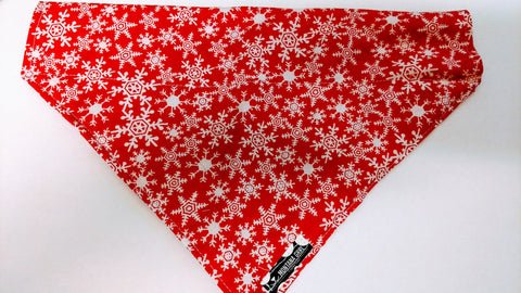 Red Snowflake Dog Bandana