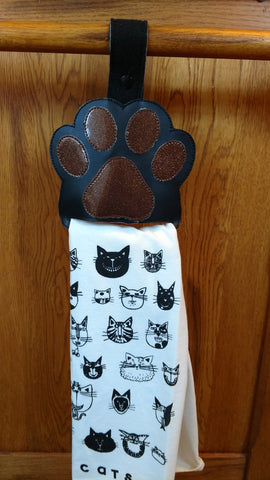 Paw Print Kitchen Towel Holder