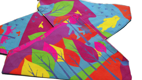 Colorful Woods Dog Bandana