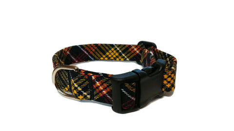 Love Fall Plaid Pet Collar