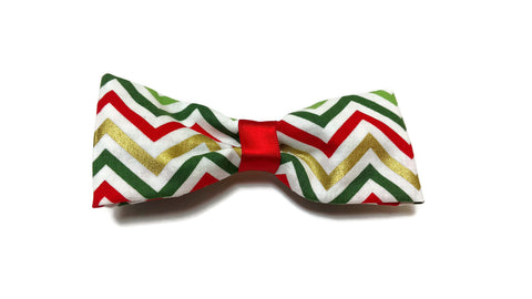 Party Time Chevron Holiday bow tie