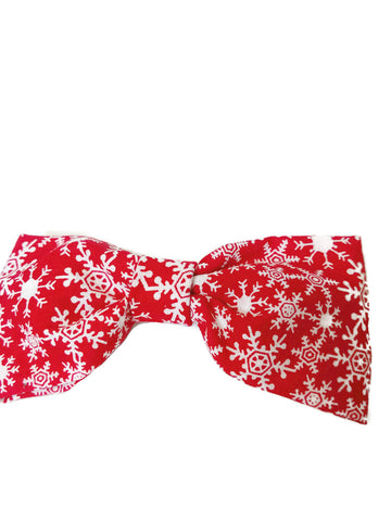 Red Snowflake Bowtie