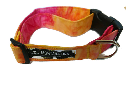 Big Sky Sunset pet collar