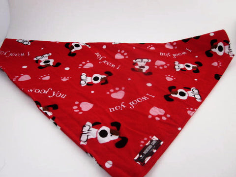 I Woof You Over the Collar Dog Bandana