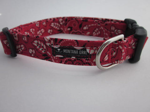 Red Giddy Up Pet Collar