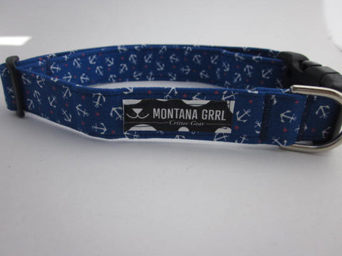 Anchors away Pet Collar