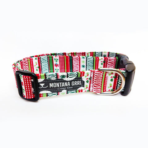 Festive Holiday Pet Collar with matching leash