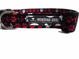 Black with Paw Prints Pet Collar