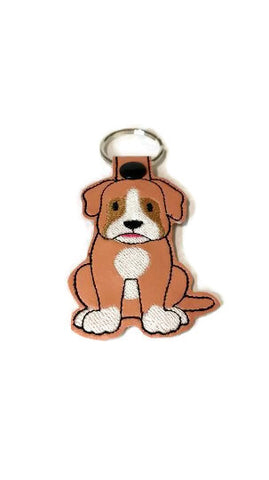 Boxer  Dog Key Chain