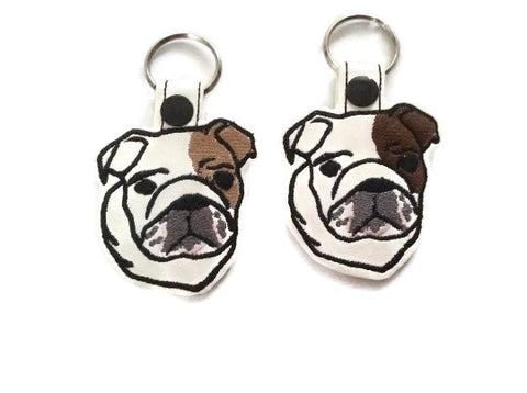 Seriously Cute Bulldog Key Fob